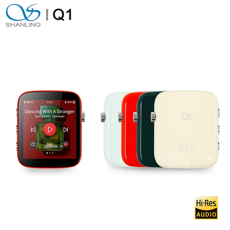 Shanling-مشغل موسيقى بلوتوث محمول ، Q1 ES9218P DAC/AMP ، ثنائي الاتجاه ، صوت HiFi ، دعم MP3 DSD128 PCM32bit/384kHz LDAC/aptX