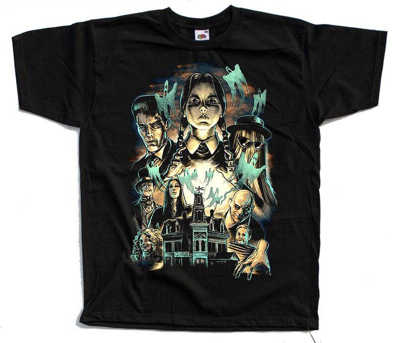 Las Addams familly V1 camiseta negra todas las tallas S-5XL Christina Ricci Raúl Juliá
