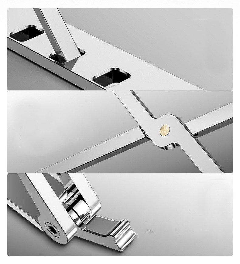محمول محمول حامل ل ماك بوك برو الهواء X نمط قابل للتعديل طوي الألومنيوم سطح المكتب حامل دفتر مكتب الرف 7-15 بوصة