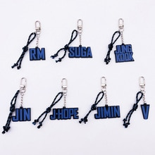 KPOP Keychain Bangtan Boys Key Chain Pendant Accessory Soul Tour JIMIN JUNGKOOK V RM SUGA JHOPE JIN MOTS Keyring Jewelry