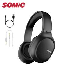 SOMiC Bluetooth Headphones Wireless 72H Playtime CVC8.0 Noise Reduction Hi-Res Certified Sound Heads