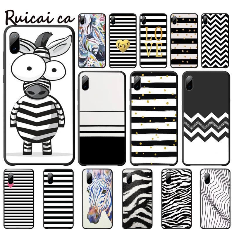 Animal Black White Zebra Stripe Mobile Phone Case For Iphone 5s Se 6 6s 7 8 Plus X Xs Max Xr 11 Pro Max Telephone Accessories