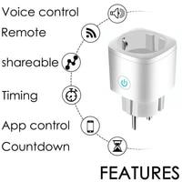Prise intelligente prise WiFi 16A prise de controle de la fonction de synchronisation pour Google Home fonctionne avec Alexa Google Assistant prise intelligente sonoff