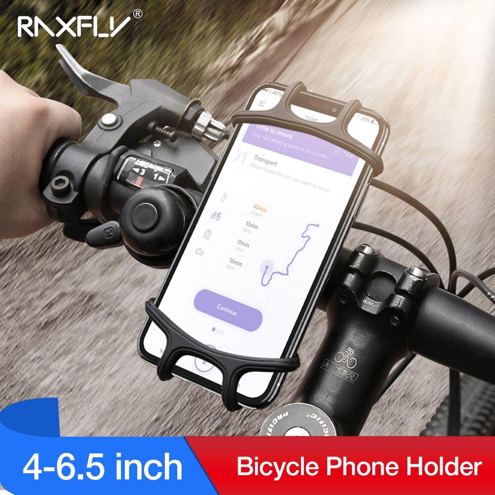 Raxfly titular do telefone da bicicleta para o iphone xs max 7 samsung universal motocicleta titular do telefone suporte do guiador suporte