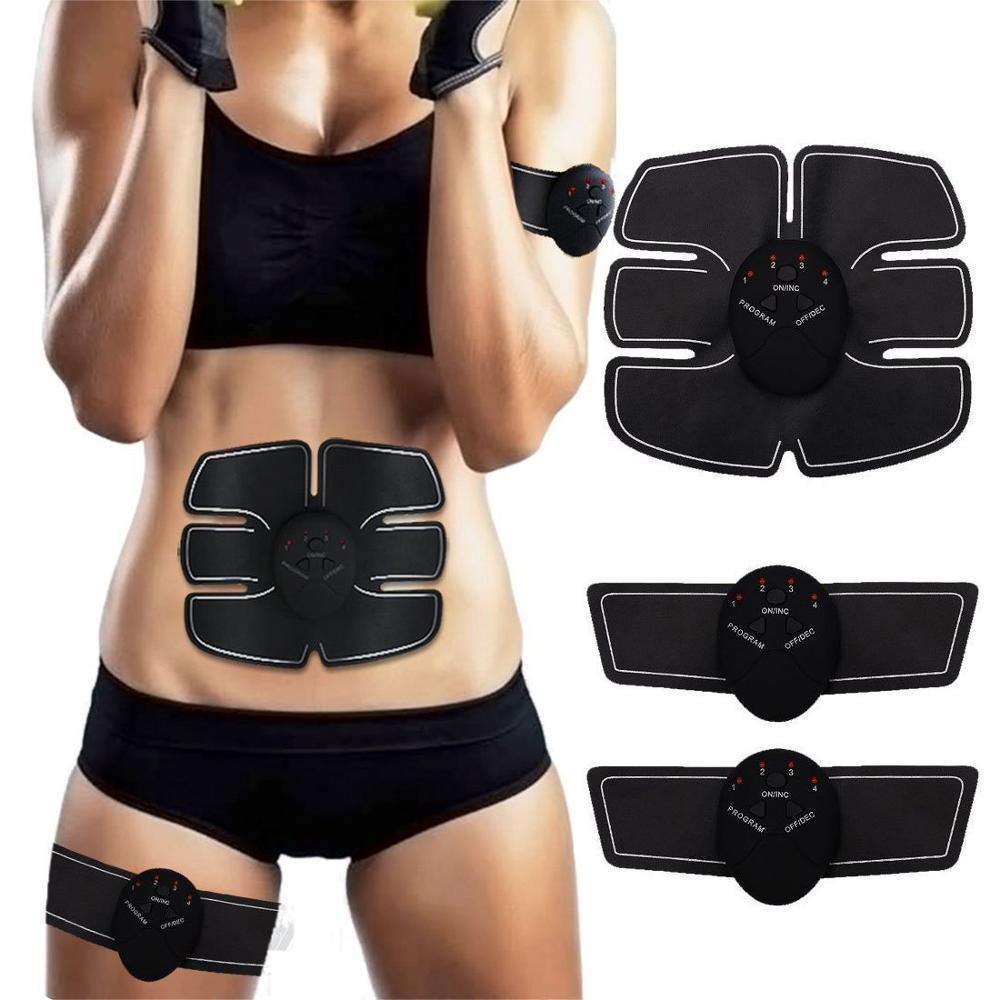 EMS беспроводной тренажер для мышц стимулятор мышц живота, тонизирующие ремни, Электрический массажер для снижения веса для похудения