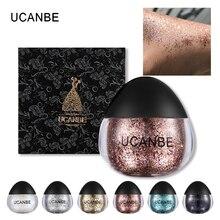 UCANBE Sombra maquillage corps paillettes Gel paillettes pâte diamant Flash ombre pour visage surligneur cheveux