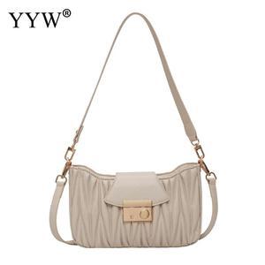 2020 Khaki PU Leather Bags For Women Shoulder Messenger Bag Lady Fashion Handbags Luxury Totes Bolsa Female NEW Shoulder Bag
