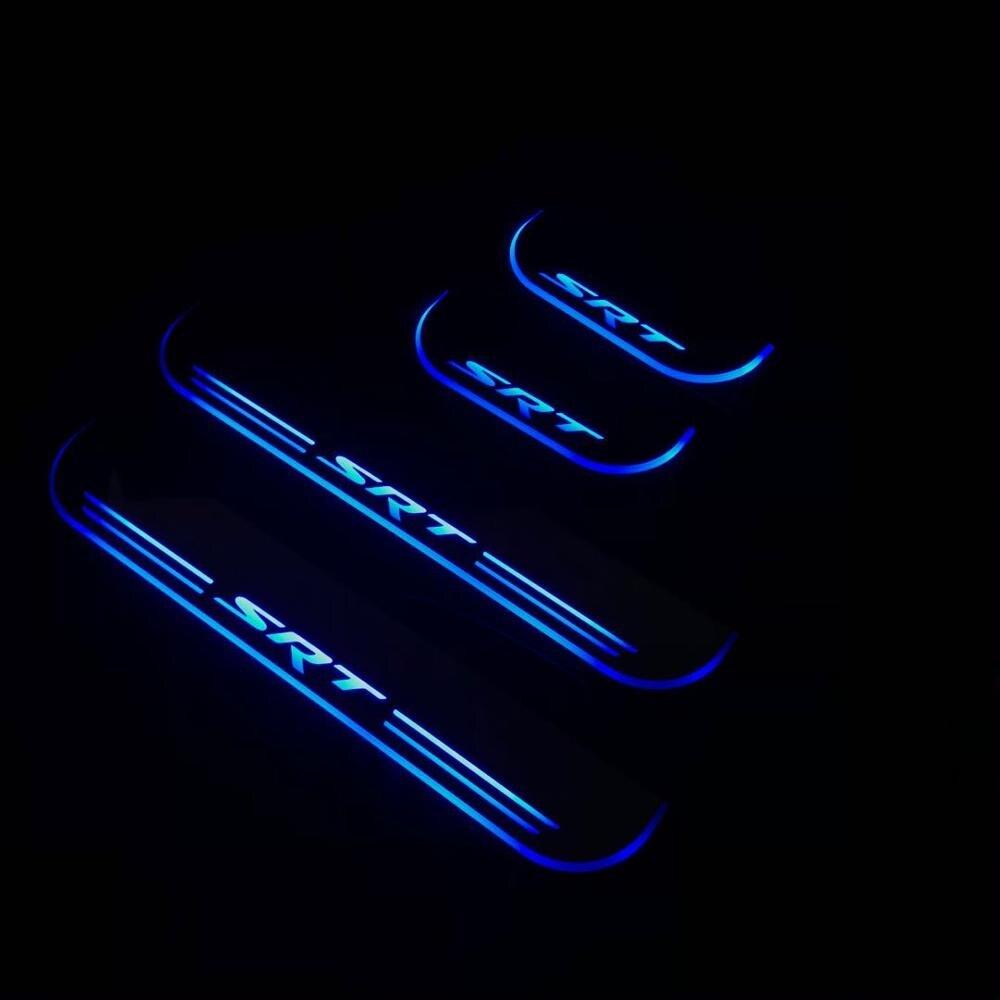 Placa de alféizar de puerta acrílica, tira con luz led decorativa de bienvenida, desgaste de puerta móvil para jeep GRAND CHEROKEE srt