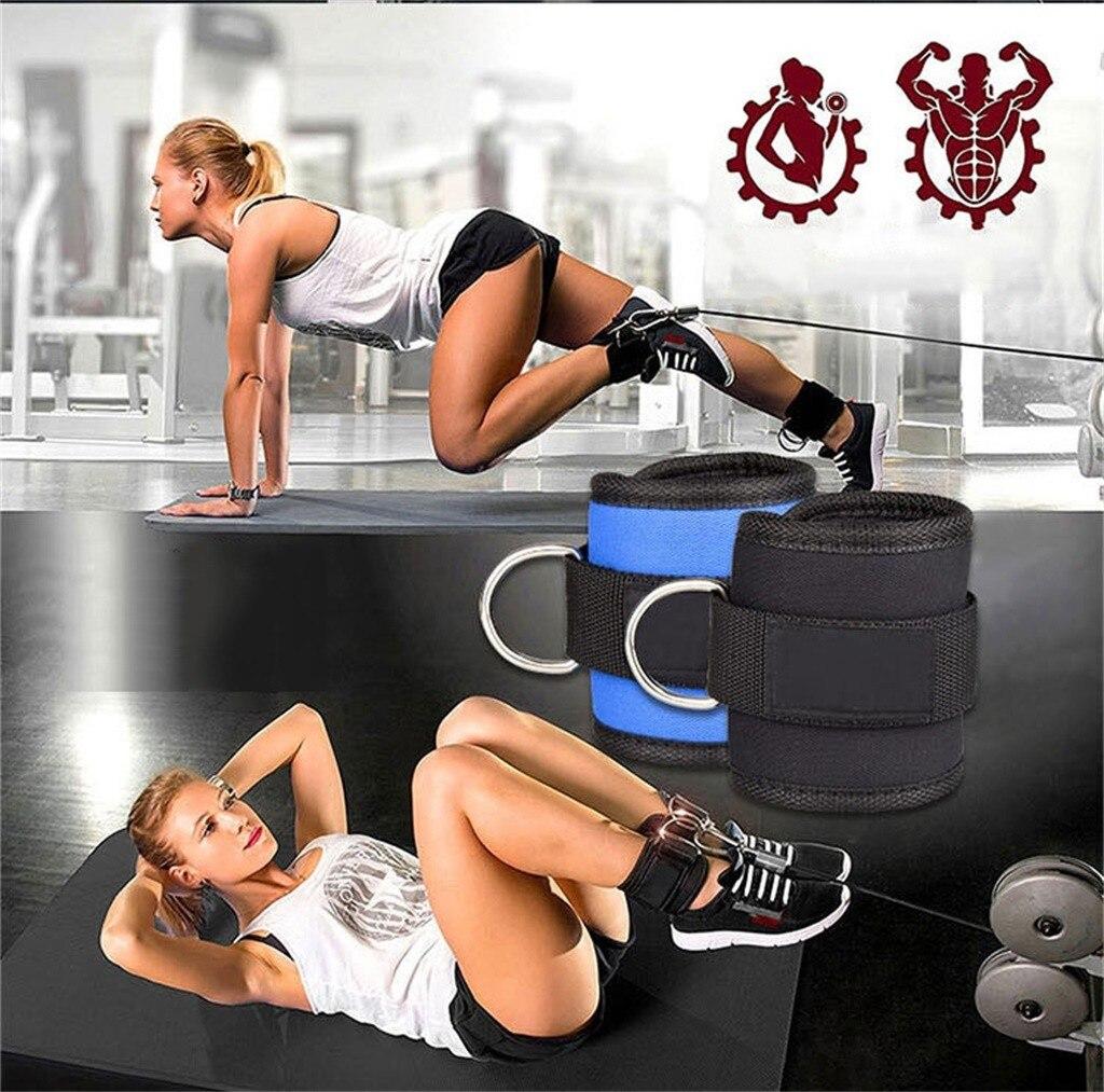 Пояс сопротивления для бодибилдинга, d-образное кольцо, ремешок на лодыжке, с пряжкой, для спортзала, новинка, мульти, бедра, ноги, лодыжки, манжеты, тяжелая атлетика, веревка для фитнеса