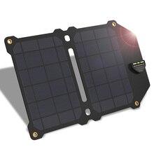 Allpowers mais novo 14 w carregador de telefone móvel duplo usb 5 v 2.4a painel solar baterias etfe carregador solar para smartphones iphone