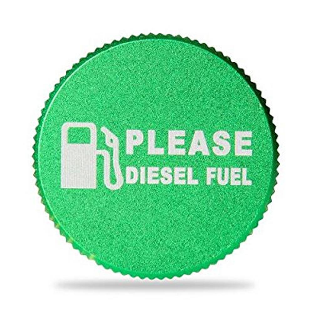 Green Billet Aluminum Magnetic Diesel Fuel Cap for Diesel 2013-2017 Dodge Ram (green cap) enlarge