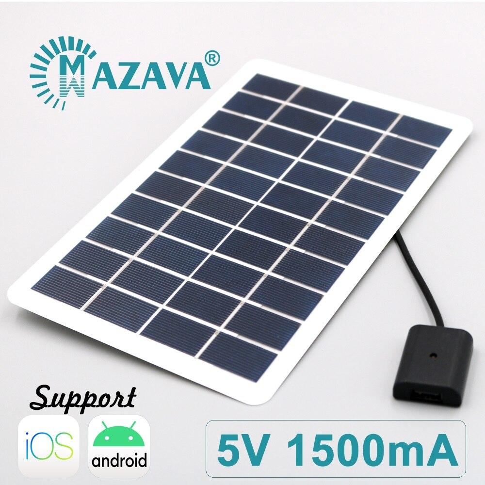7.5W 1500mA Solar Power Bank Battery PowerBank USB LED Powerbank Portable Mobile Phone Charger for Xiaomi Iphone Ios Android