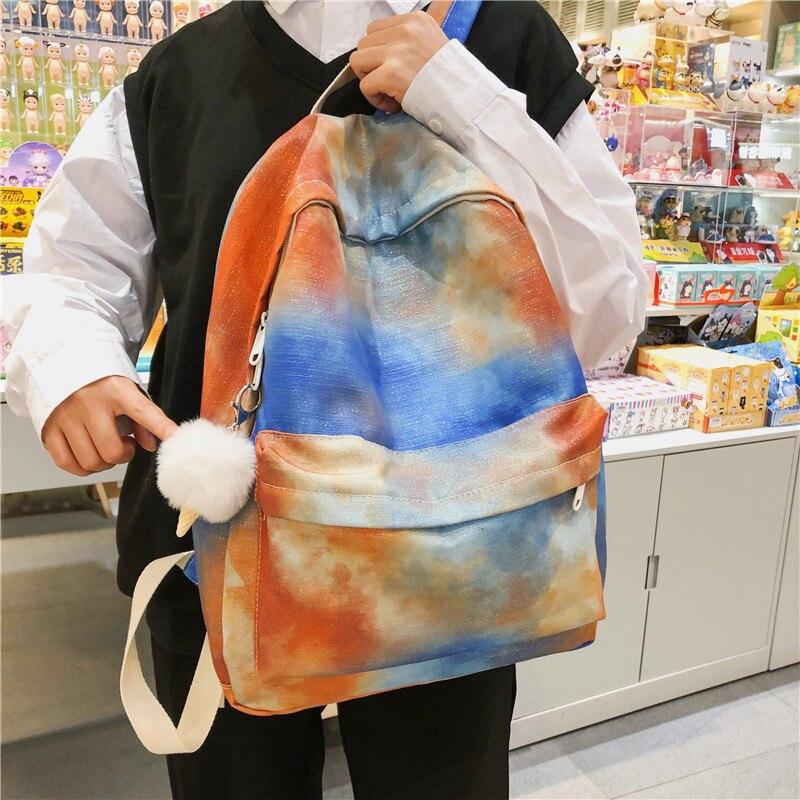 Camouflage Backpack Brand High Quality 100% Cotton Leisure Or Travel Bag Color School Bag for Teenage Girls Canvas Shoulder Bag