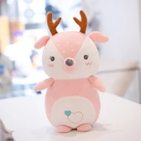 35cm kawaii cute smooth and soft deer penguin stuffed down cotton plush toy doll baby hug and accompany holiday gift