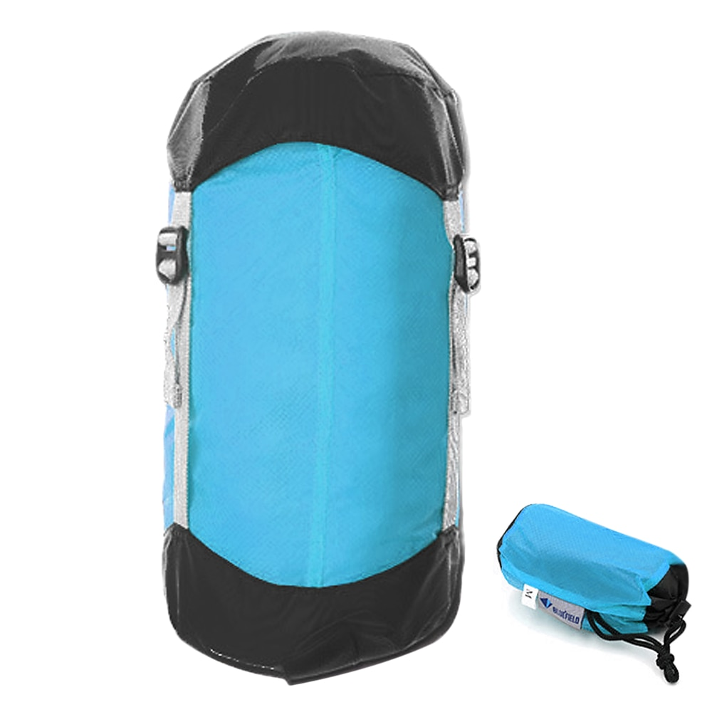 Saco de compresión ultraligero, saco de dormir, bolsa de compresión con cordón de saco, organizador de bolsas 10L / 15L / 20L para senderismo y Camping