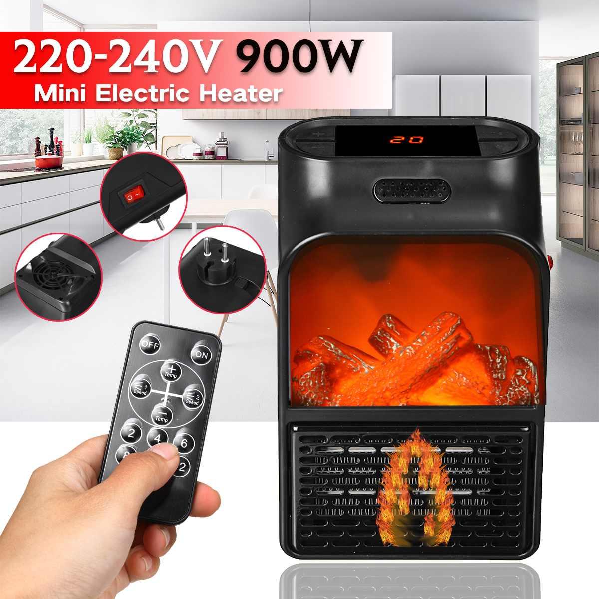 Мини Удобный Электрический обогреватель вентилятора 900 Вт, зимние портативные Подогреватели для рук и ног, обогреватель воздуха, настенный ...