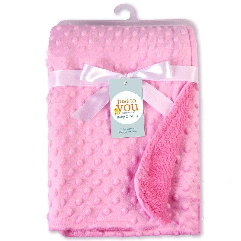 Soft Fleece Bubble Baby Blanket Nursery Bedding Newborn Cot Wrap Throw 40x30inch muslin baby blankets swaddle