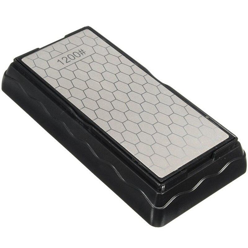 Afilador de doble cara 600 #1200, cuchillo de piedra de afilar de diamante, cuchillo de cocina, herramienta de afilado