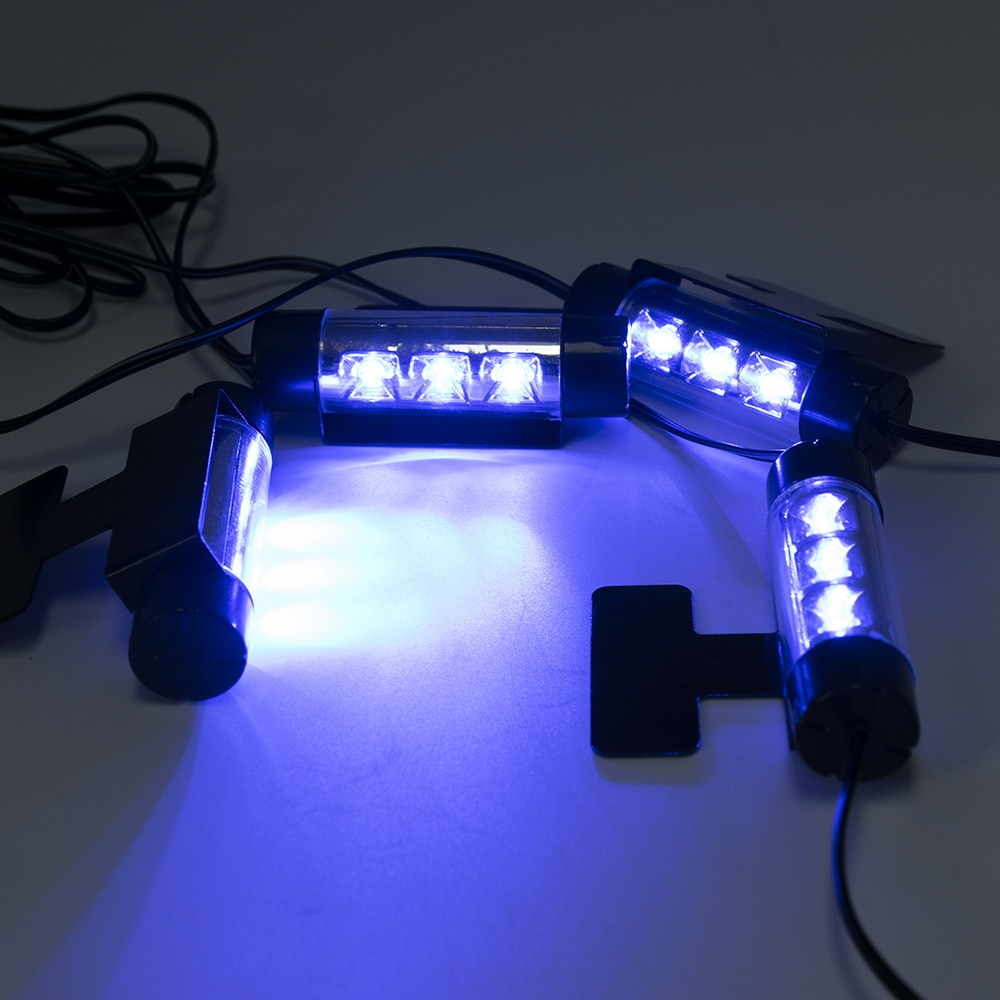 Car Charge 12V Interior Floor Decorative Atmosphere Blue Lamp Lights Interior Accessories Ornaments