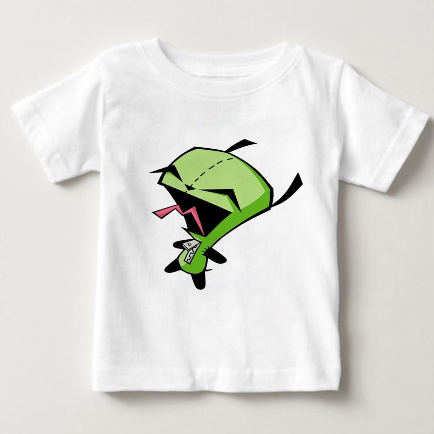Alien Invader Zim Boy's Summer Clothes 2018 Children's Printed Extraterrestrial T-shirts Invader Zim Tshirt Short Sleeve T Shirt