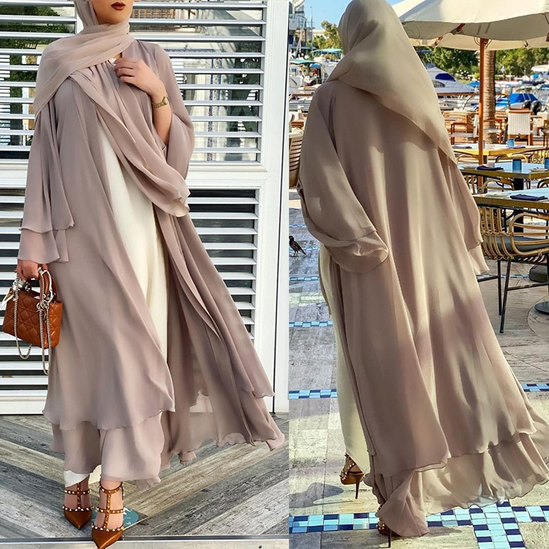 رمضان تركيا عباية مفتوحة دبي عبايات مسلمة للنساء فساتين تركية المعونة باراك الإسلام الحجاب فستان قفطان رداء musulman