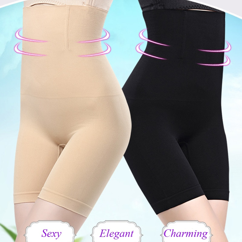 Push up shapewear curvo bunda levantador barriga controle corpo shaper gaine minceur mais tamanho cintura trainer shorts culotte taille haute