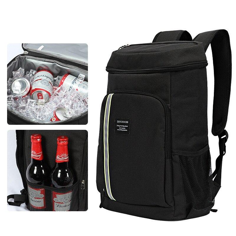 De alta capacidad bolsa de comida mochila de reparto de las mujeres Camping Picnic de la fruta postre de mantener fresco de bolsa aislado bolsa para almuerzo