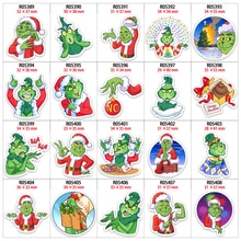 Acrylic Resin Christmas Cartoon Grinch Character Printed 10Pcs/lot DIY Decoration Holiday Supplies