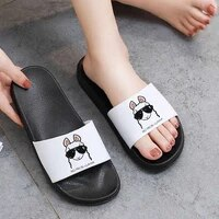 2021 women shoes cartoon kawaii slippers beach slippers open toe indoor home shoes for woman bathroom lovely alpaca sandals