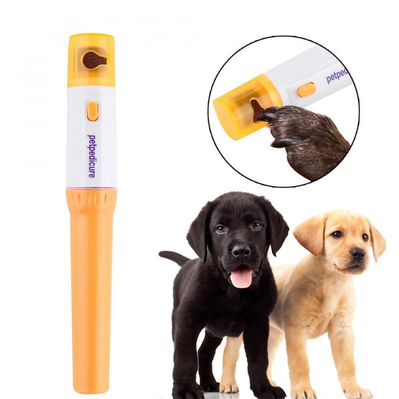Cortador de uñas eléctrico para mascotas, cortador de uñas con pata de perro y gatos, herramienta para el cuidado de mascotas, sin dolor, para pulido de uñas, perros