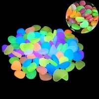 50pcspack glow in the dark garden pebbles stones rocks for walkways garden path patio lawn garden yard decor luminous stones