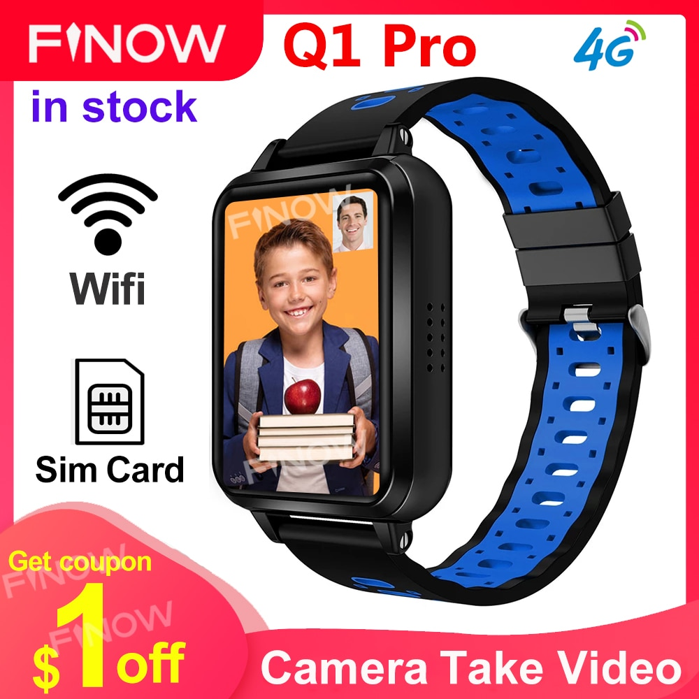 "Finow Q1 Pro Smart Watch Phone Camera 720mAh Battery 1.54"" Screen Smartwatch Wifi Video Call Download App Watches For Android"