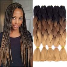 CLong Jumbo Braids Kanekalon 24 Inch  Color Braiding Synthetic Hair Extensions  Braid Hair  for  100 Colors Heat Resistant Fiber