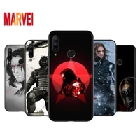 marvel winter soldier art soft tpu for huawei honor v30 30 x10 30i 10x 30s 20s view 20 v20 pro plus lite ru black phone case
