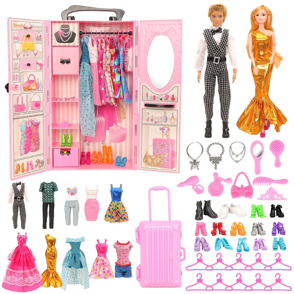 Armario de 42 accesorios para muñecas, zapatos, gancho para bolsas, muebles para...