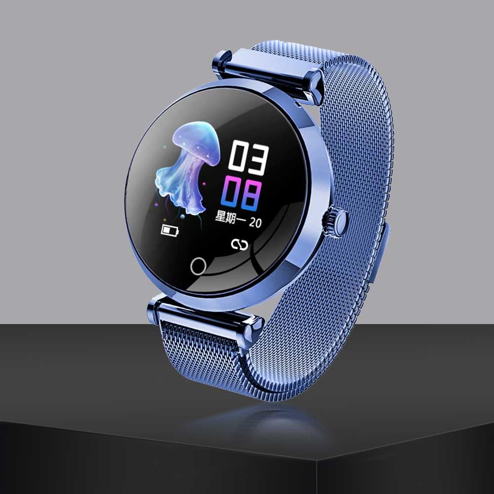 Reloj inteligente R6 para mujer, IP68, resistente al agua, monitor de ritmo cardíaco, mensaje Push Bluetooth para hombres, Fitness, relojes para mujeres, para Android IOS