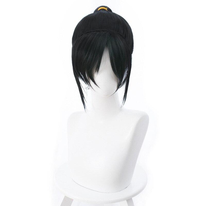 Ruck it Ralph cosplay costume wig vanellope von schweetz anime character black ponytail wig