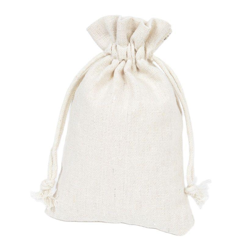 Bolsa de Algodão Bolsa de Pano de Linho Bolsa de Armazenamento para o Presente de Natal com Logotipo Puro