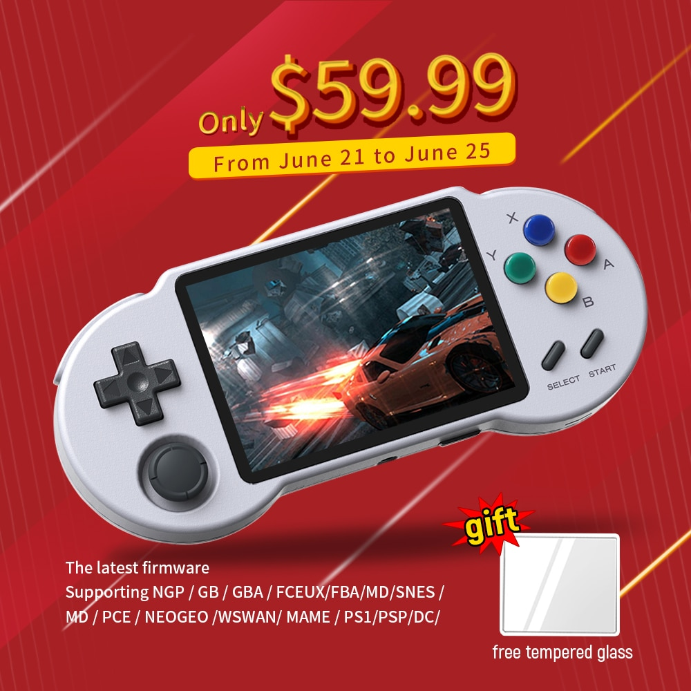 Pocketgo S30 preinstalled latest firmware retro game 3.5 inch IPS screen portable Handheld Video Game Console support ps1, DC,