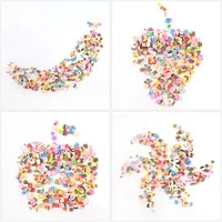 clay resin filling fruit leaf flower pattern colorful filler sweet fruits pvc snap clips covers for diy uv epoxy art craft