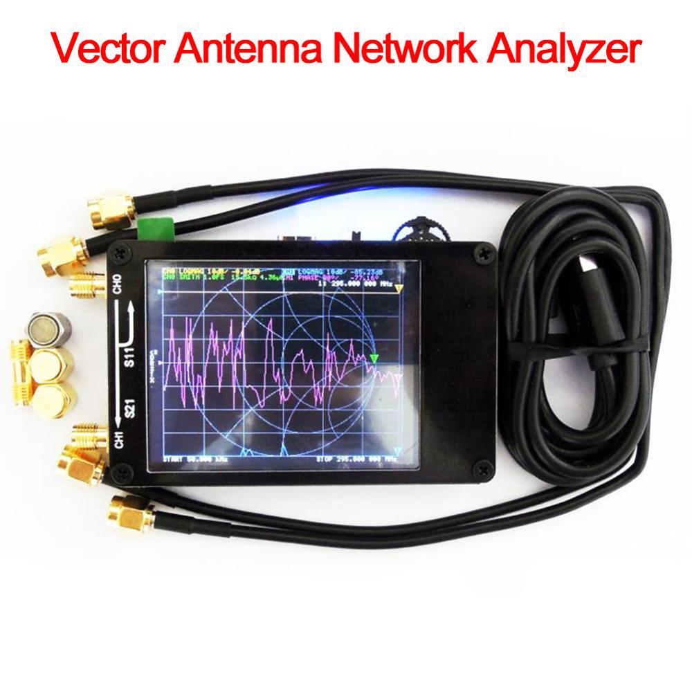 NanoVNA 50KHz-900MHz векторный сетевой анализатор цифровой сенсорный экран коротковолновый MF HF VHF PC антенный анализатор стоящая волна D4