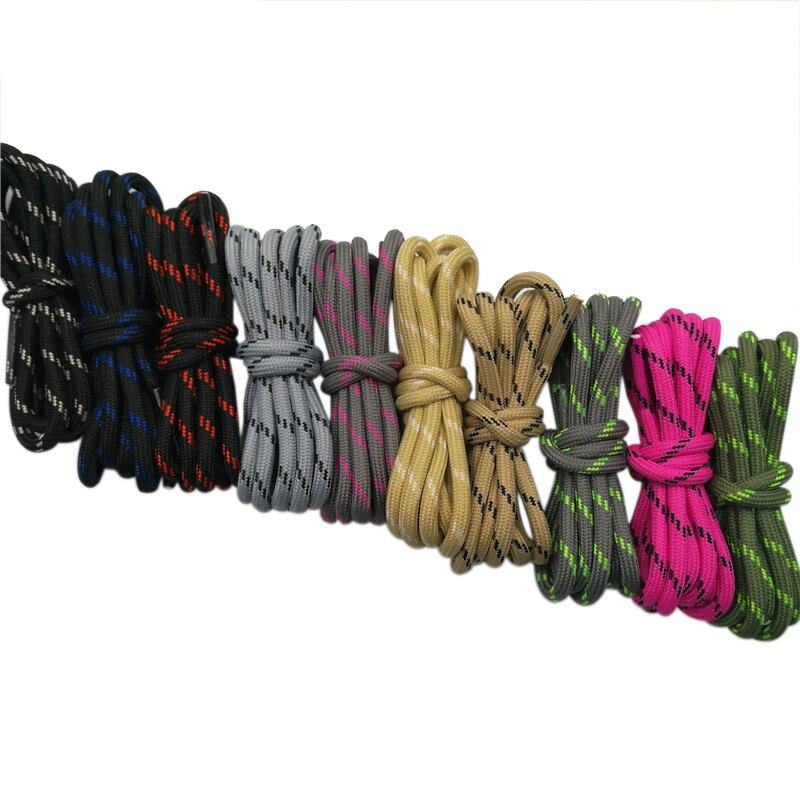 Coolstring Outdoor Round Rope Hiking Shoes Laces Striped Wear Resistant Sneakers Boot Shoelaces Stri