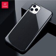 Xundd étui pour iPhone 11 Pro Max étui antichoc armure couverture de téléphone coque en fiber de carbone mince léger doux dos couvertures