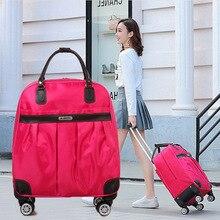 Sac polochon femme voyage haute capacité vêtements organisateur pochette étanche week-end bagage main universel roue Trolley paquet