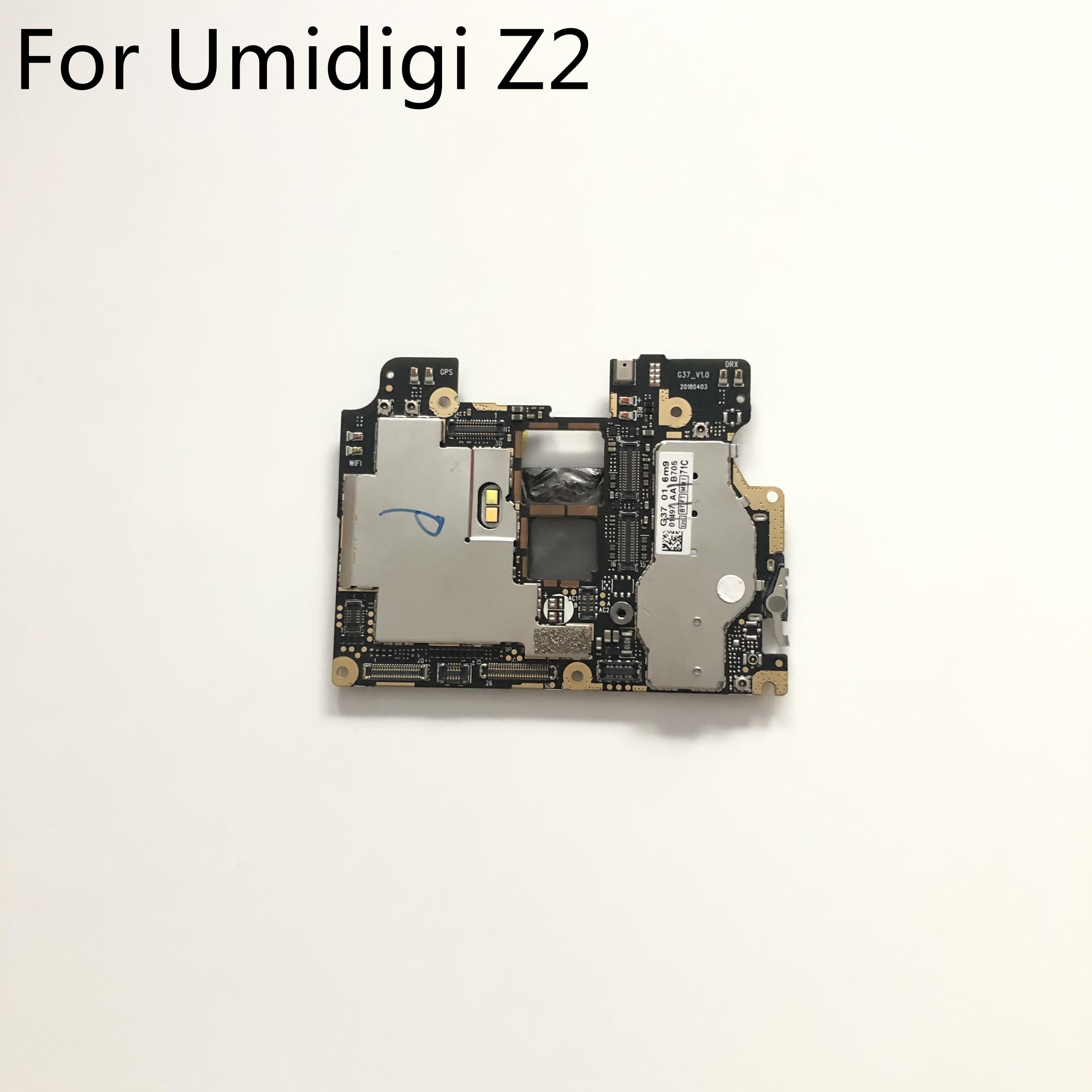 "Umidigi z2 usado mainboard 6g ram + 64g rom placa-mãe para umidigi z2 mtk6763 octa núcleo 6.2 ""2246x1080 frete grátis"