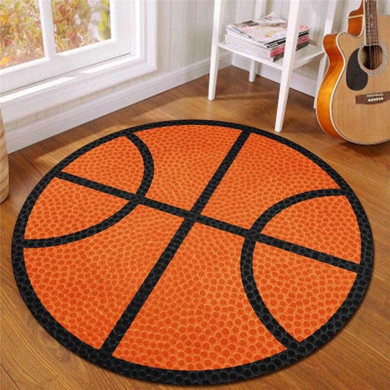 كرة القدم كرة السلة المطبوعة السجاد لغرفة المعيشة المحمولة البساط طفل اللعب الحصير الحديثة الكرتون لطيف السجاد ديكور غرفة نوم tapis