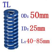 1Pcs Blue Light Load Spiral Stamping Compression Mould Die Spring Outer Diameter 50mm Inner Diameter 25mm Length 40-85mm