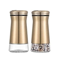 2pcs seasoning shaker spice jars stainless steel wide mouth spice shaker pepper shaker seasoning container kitchen condiment too