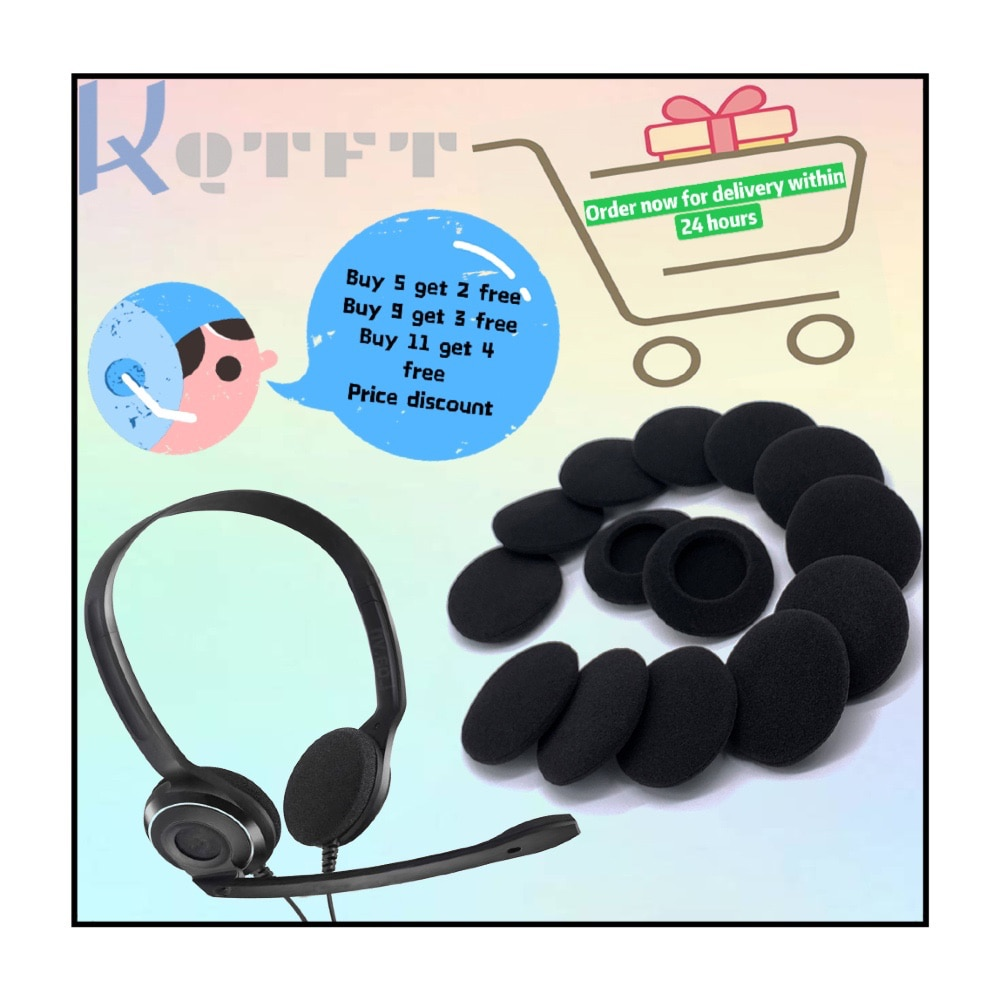 Earpads Sponge Replacement for Logitech PC960 PC-960 Stereo Headphones cotton Earmuff Earphone Sleeve Headset Repair enlarge