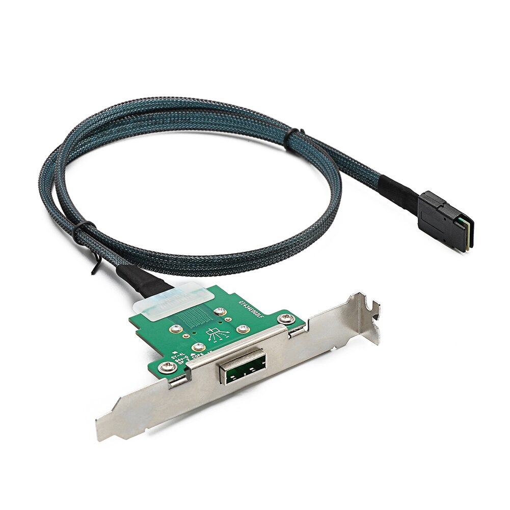 1 متر خادم كابل بيانات Mini SAS SFF-8088 إلى SFF-8087 كابل بيانات الخادم الكمبيوتر قرص صلب اتصال الحبل